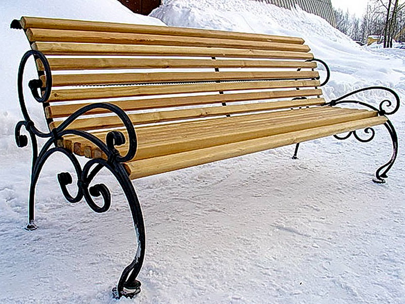 Кованая скамейка N 10950