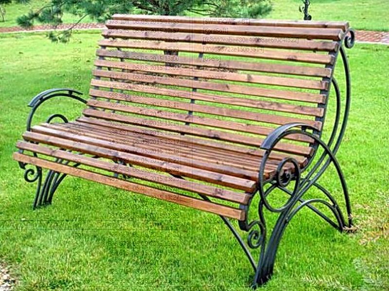 Кованая скамейка N 10951