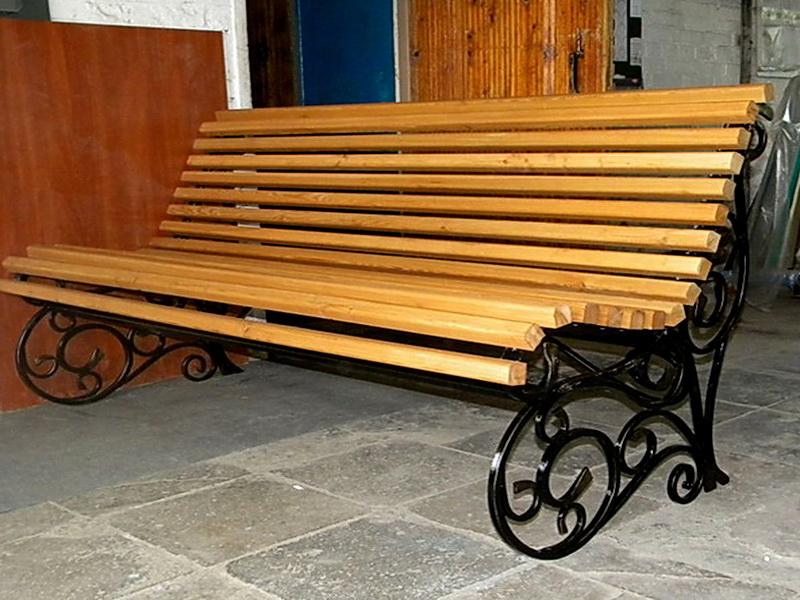 Кованая скамейка N 10952