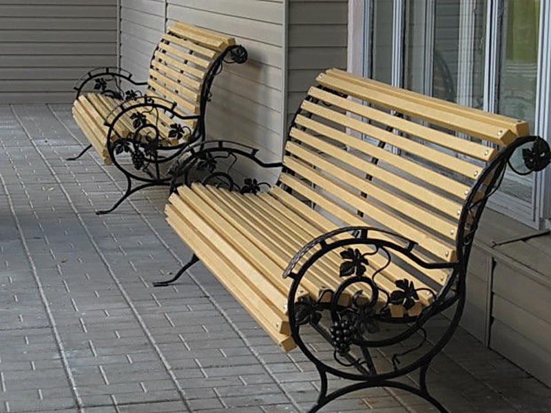 Кованая скамейка N 10953