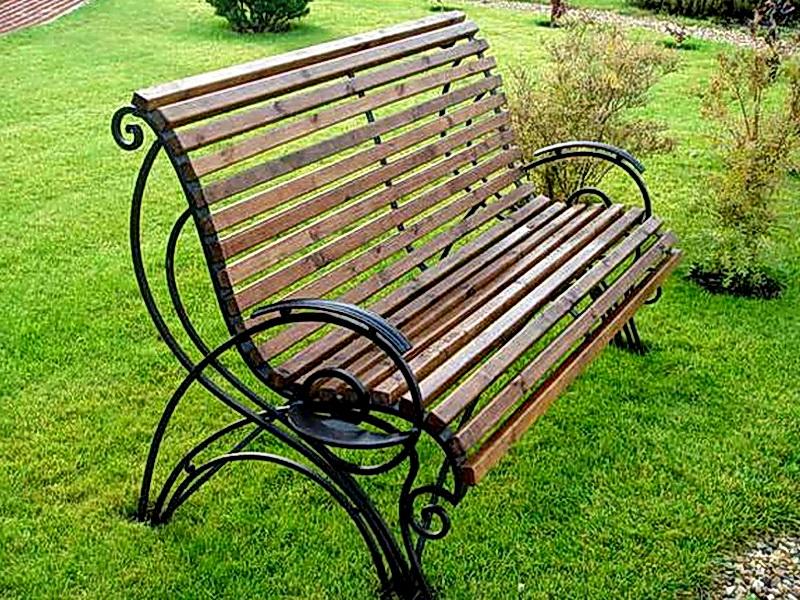 Кованая скамейка N 10954