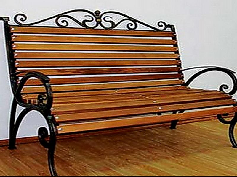 Кованая скамейка N 10955