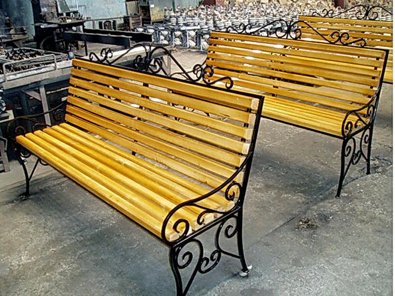 Кованая скамейка N 10956