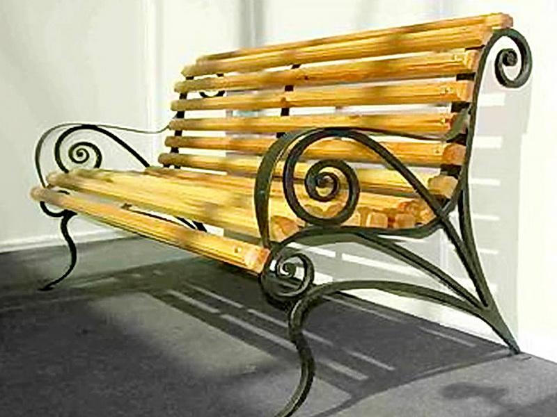 Кованая скамейка N 10957