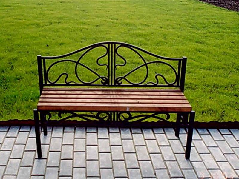 Кованая скамейка N 10958