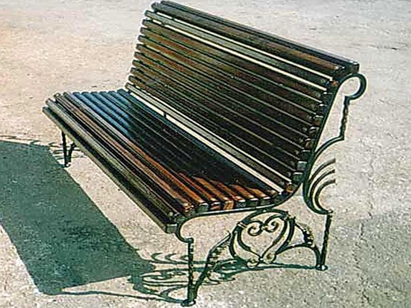 Кованая скамейка N 10959
