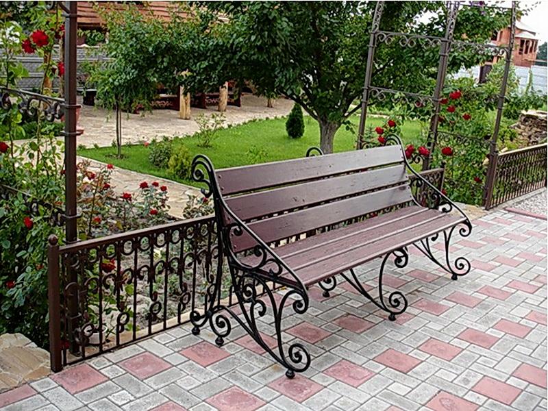 Кованая скамейка N 10960