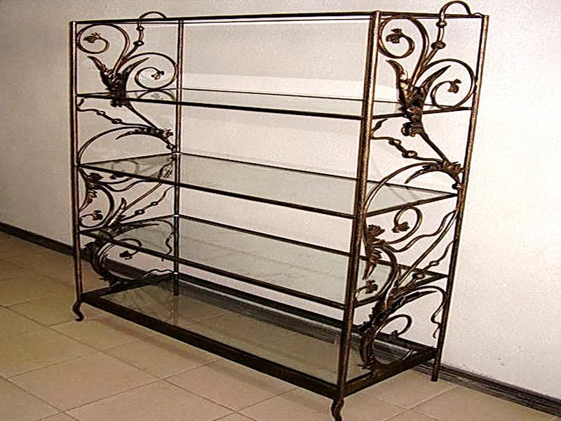 Кованые стеллажи - этажерки N 22002