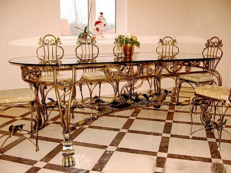 Кованый стол N 10801