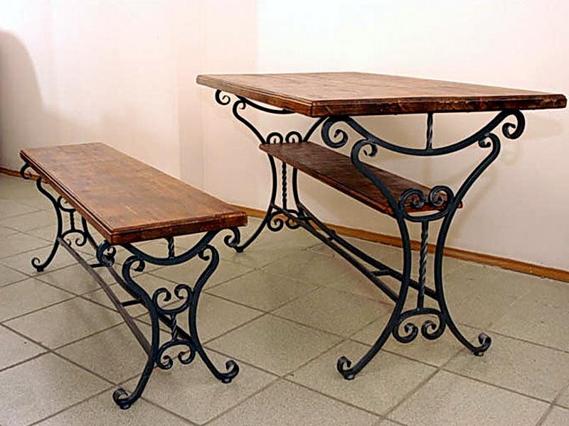 Кованый стол N 10834