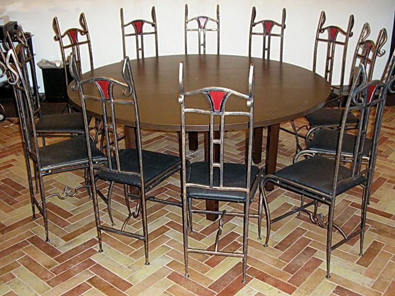 Кованый стол N 10842