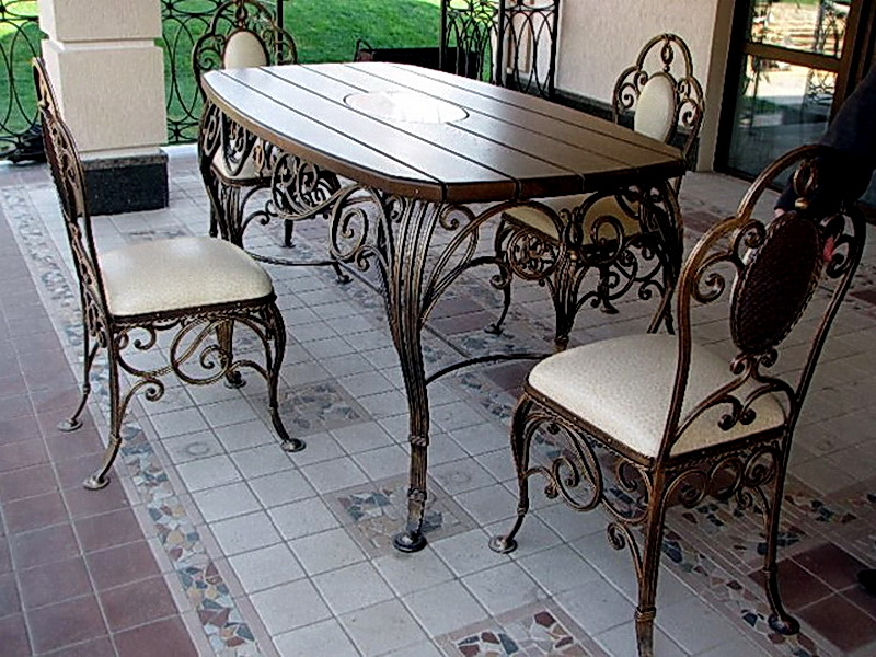 Кованые стулья N 10717