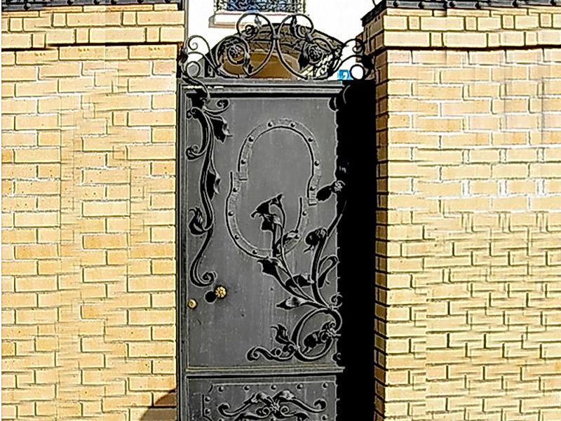 Кованая входная дверь N 2022