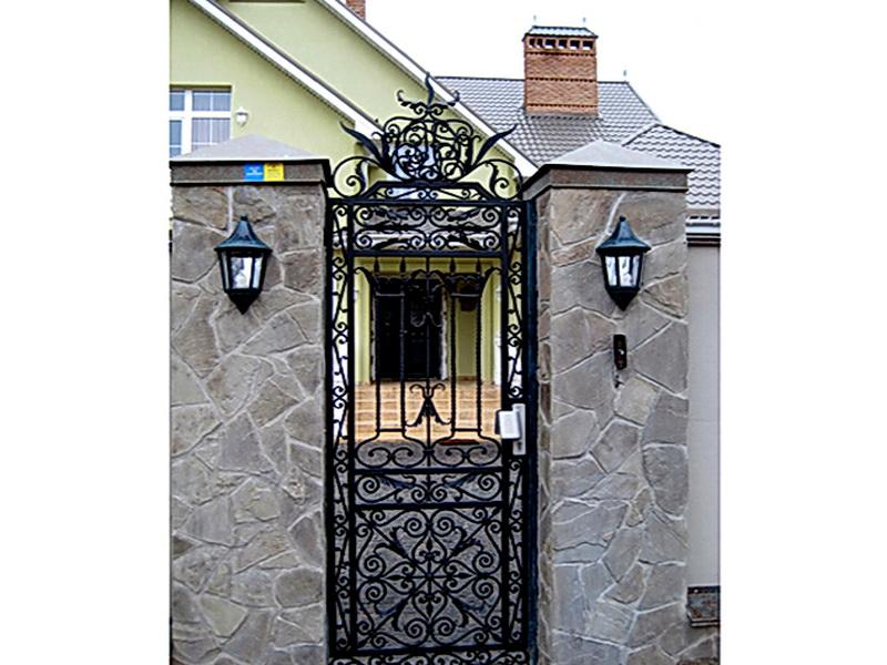 Кованая входная дверь N 2025
