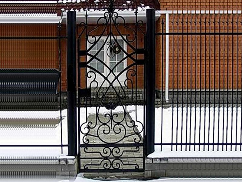 Кованая входная дверь N 2027