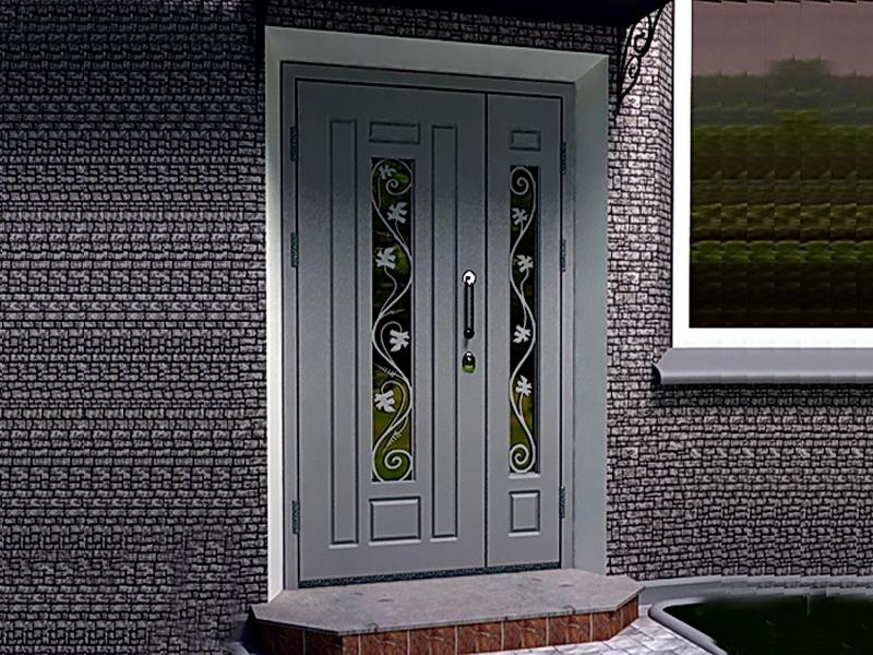 Кованая входная дверь N 2037