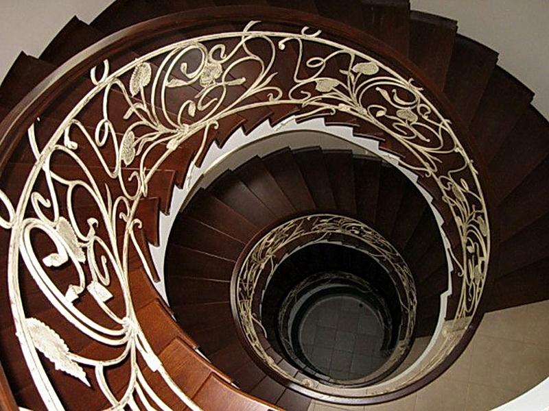 Кованые винтовые лестницы N 3-3501