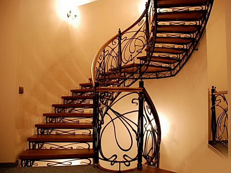 Кованые винтовые лестницы N 3-3502