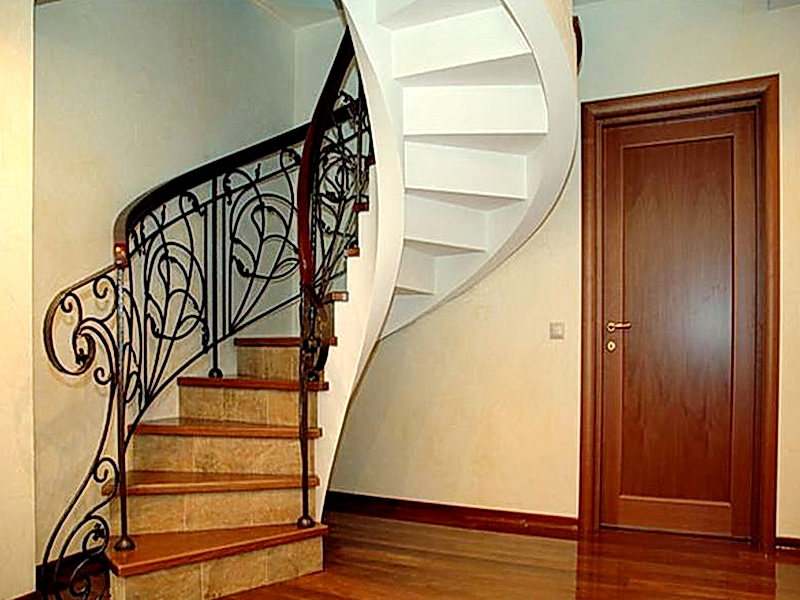 Кованые винтовые лестницы N 3-3504