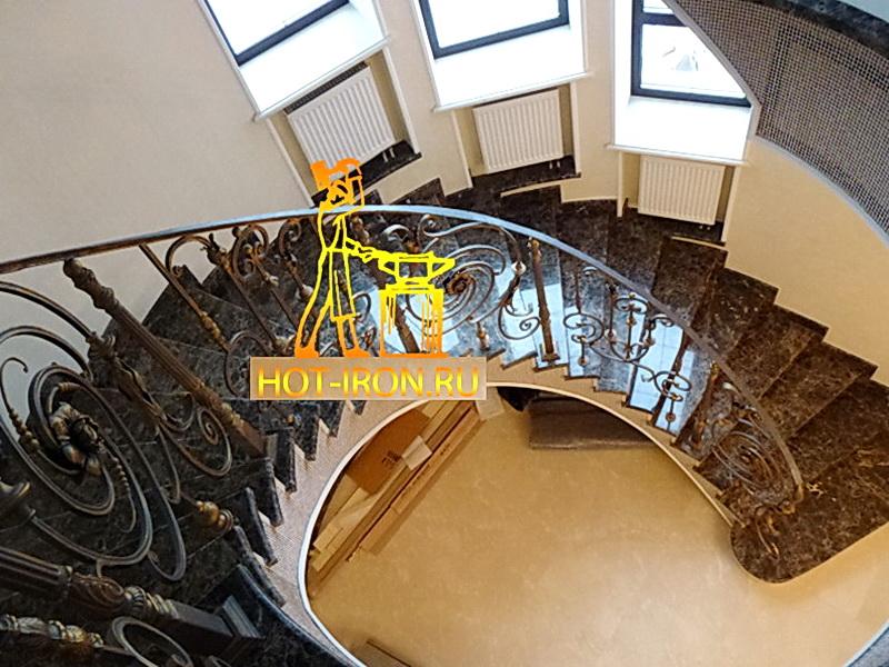 Кованые винтовые лестницы N 3-3505