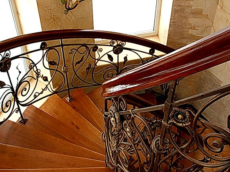 Кованые винтовые лестницы N 3-3506