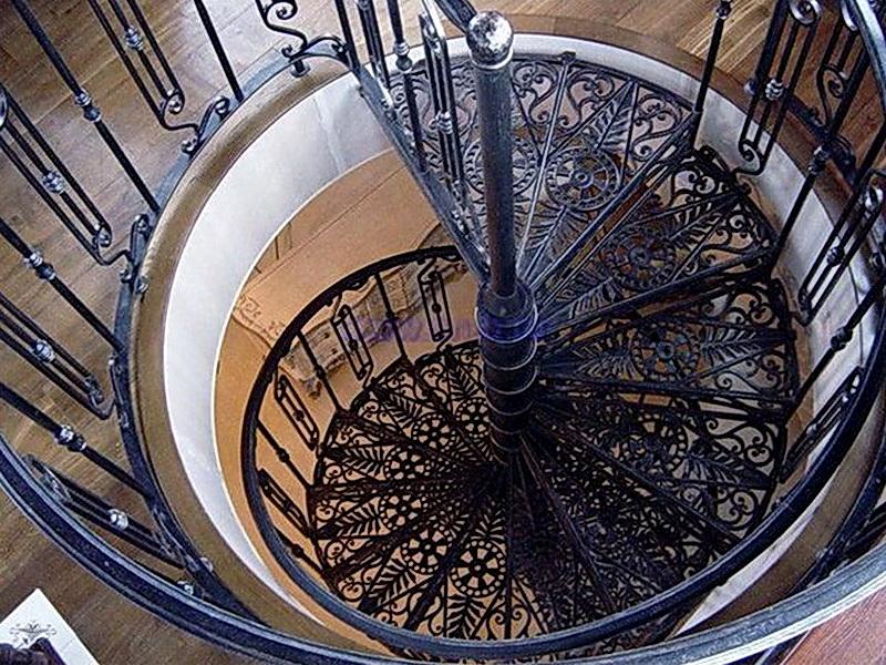 Кованые винтовые лестницы N 3-3507