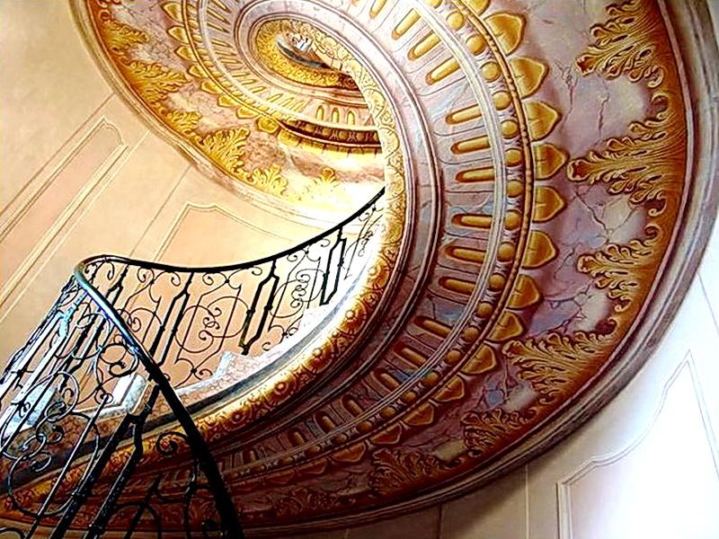 Кованые винтовые лестницы N 3-3510