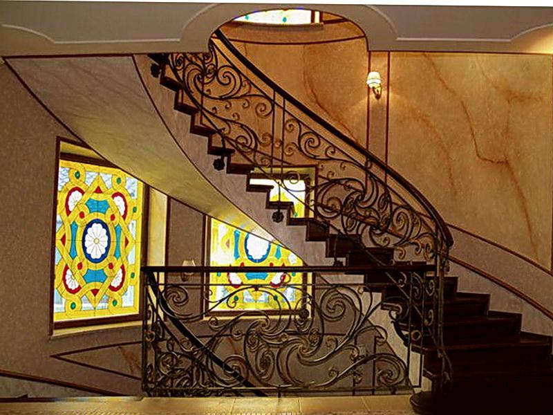 Кованые винтовые лестницы N 3-3516
