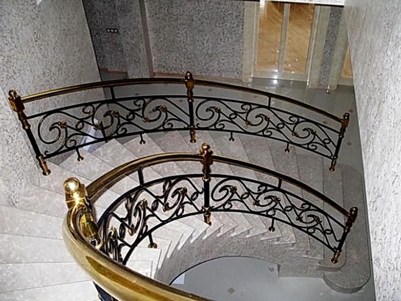 Кованые винтовые лестницы N 3-3521