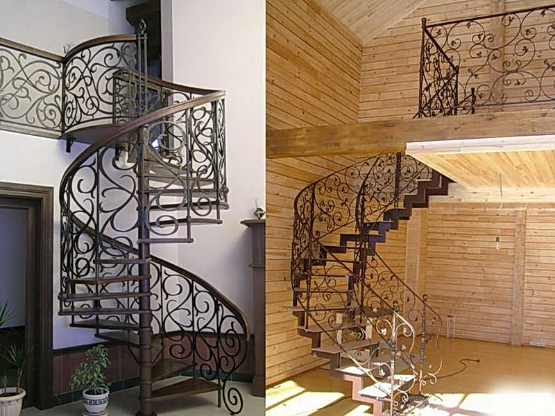 Кованые винтовые лестницы N 3-3533