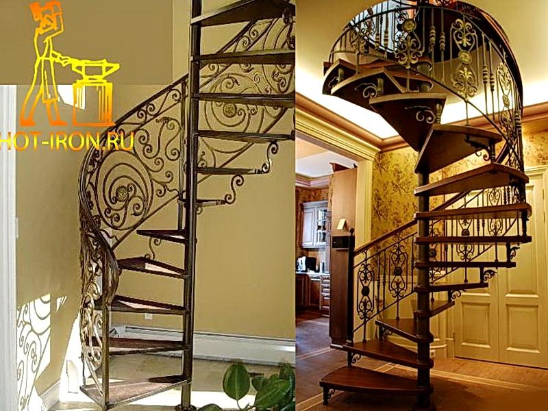 Кованые винтовые лестницы N 3-3534