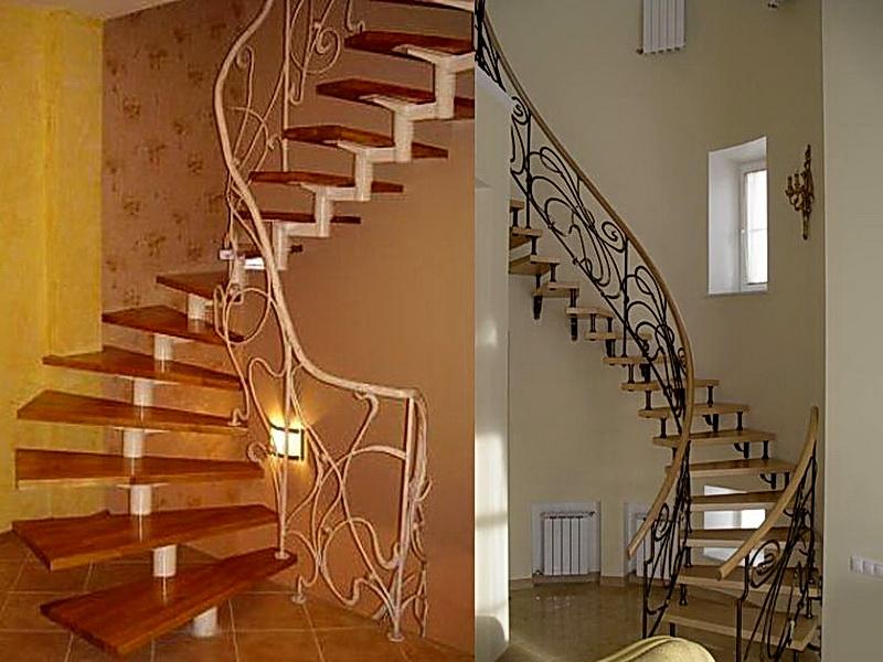 Кованые винтовые лестницы N 3-3540