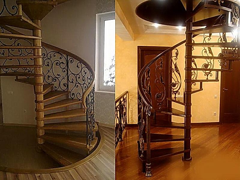 Кованые винтовые лестницы N 3-3541