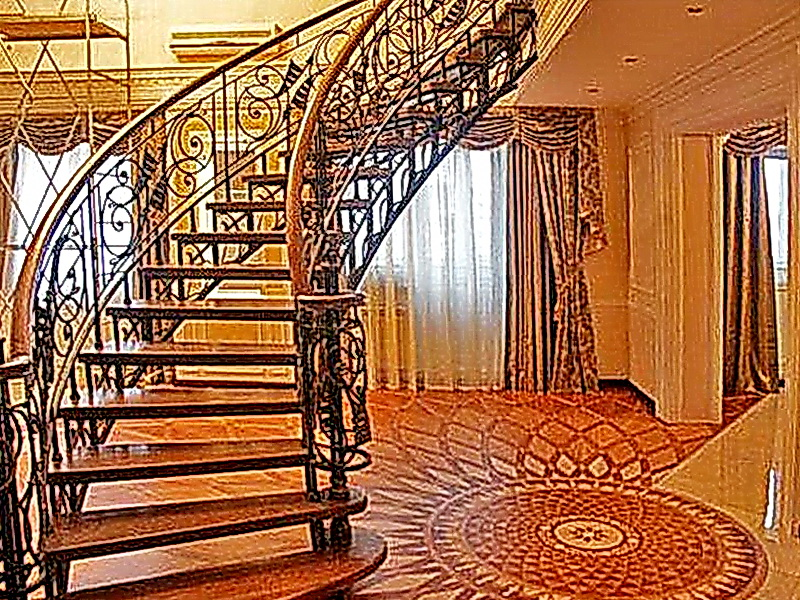 Кованые винтовые лестницы N 3-3542