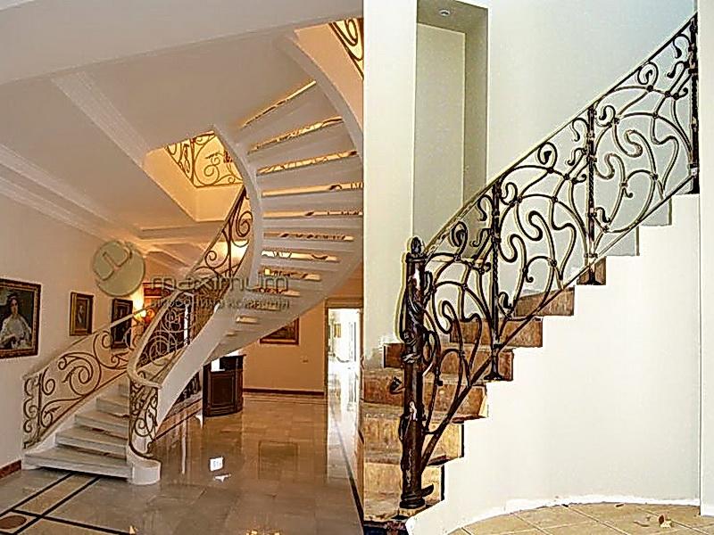 Кованые винтовые лестницы N 3-3543