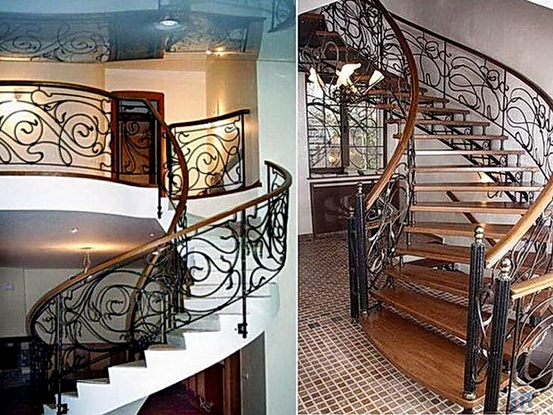 Кованые винтовые лестницы N 3-3544
