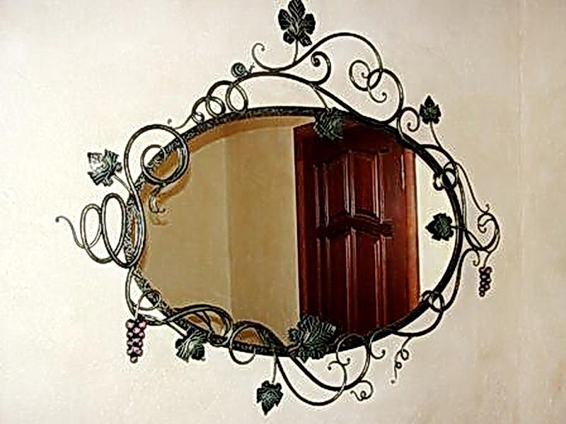 Кованое зеркало N 19039