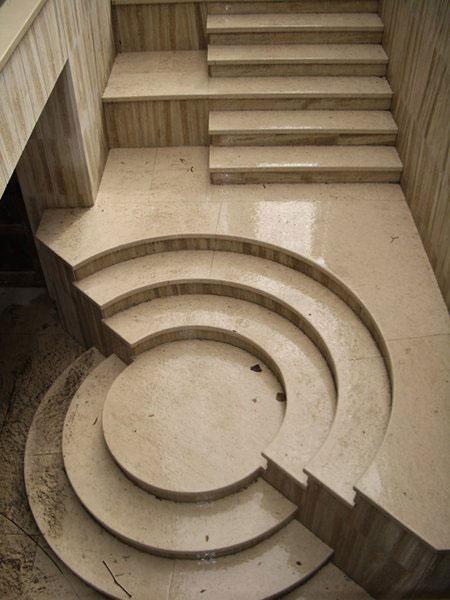 Лестница из гранита G 1014