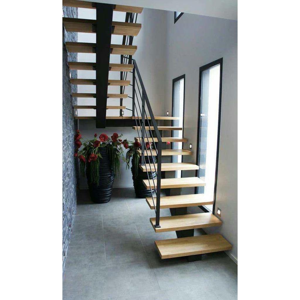 Лестница на металлическом каркасе N3