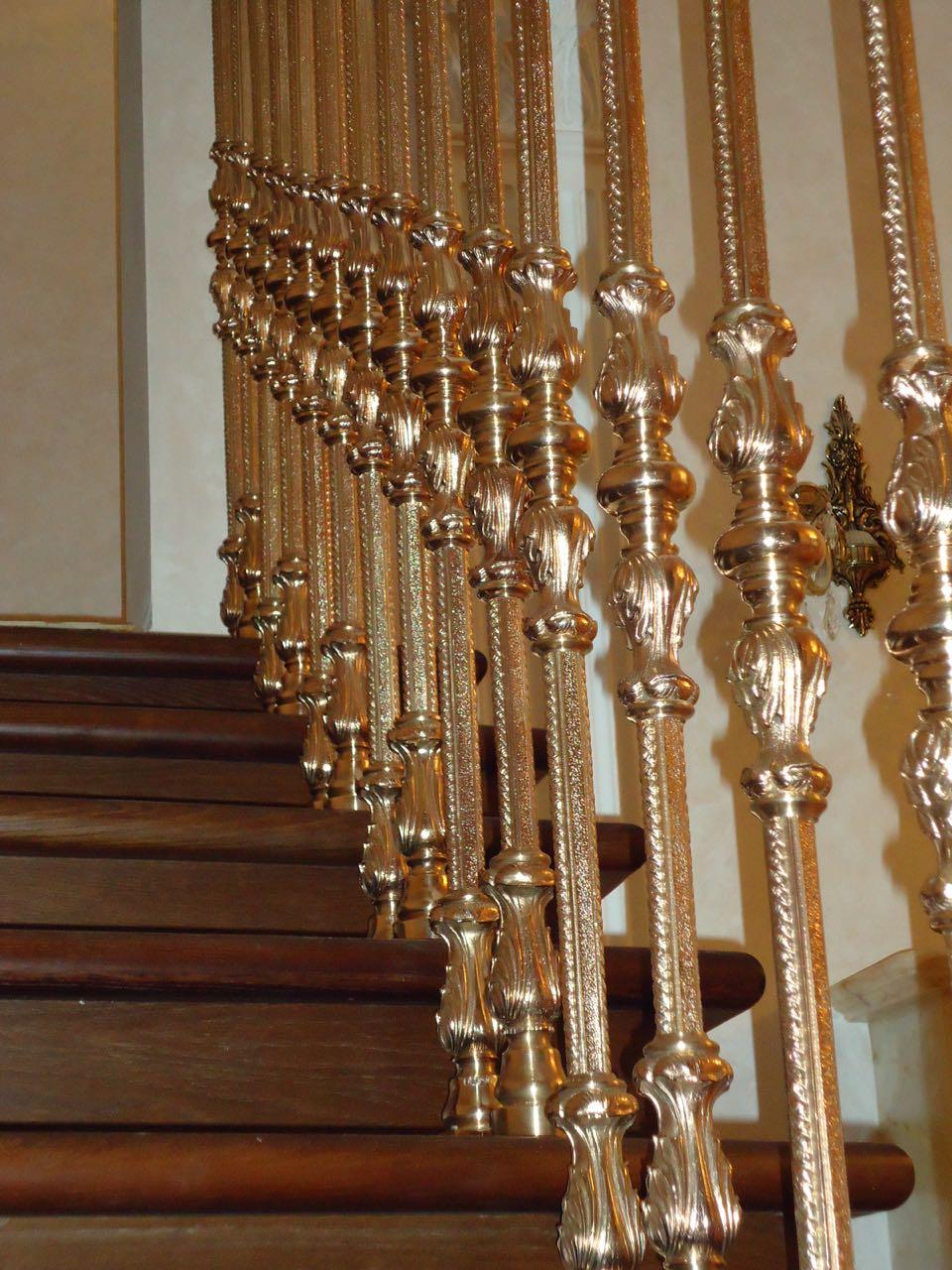 Литые бронзовые лестничные ограждения N B-1002