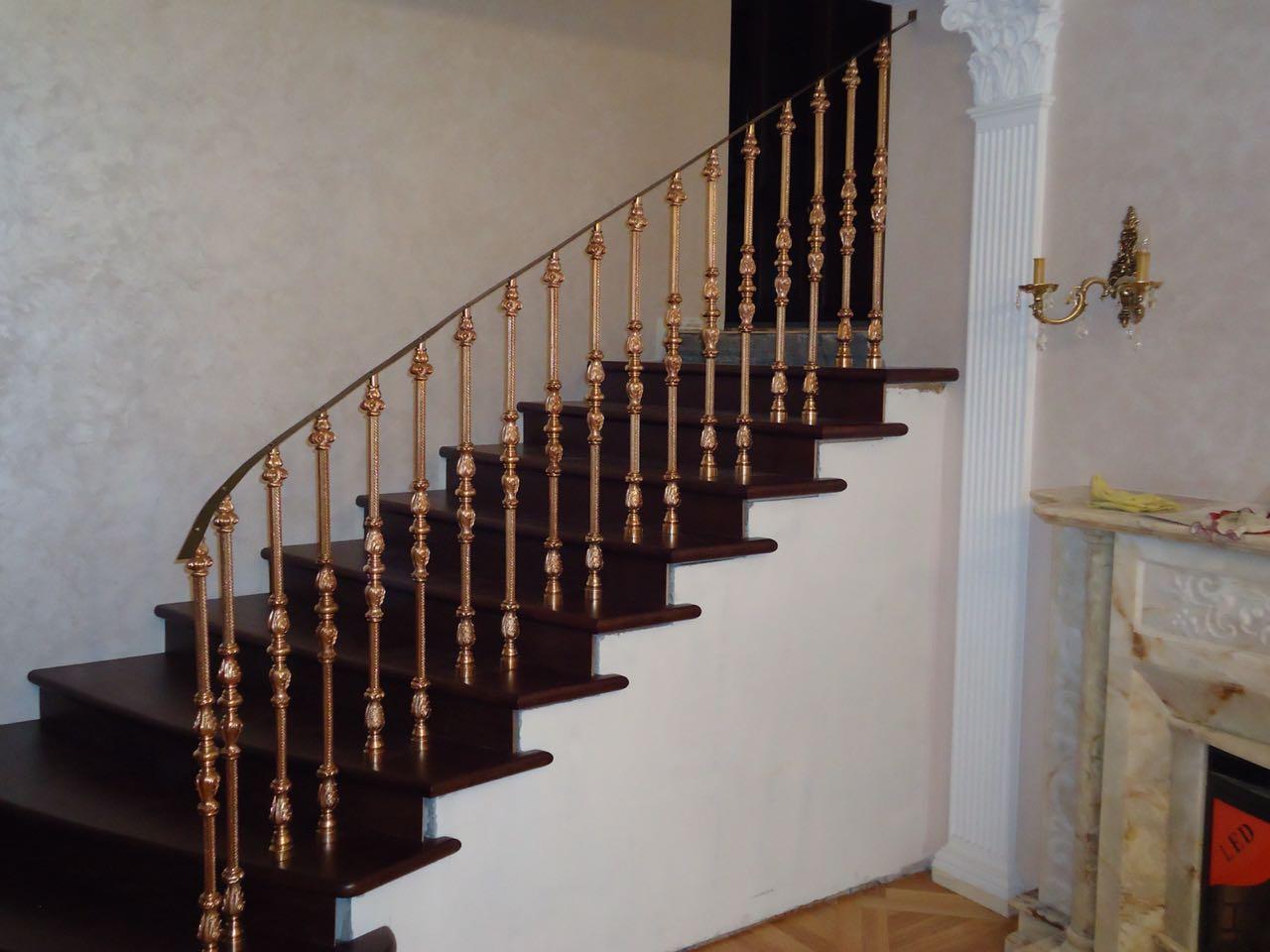Литые бронзовые лестничные ограждения N B-1003