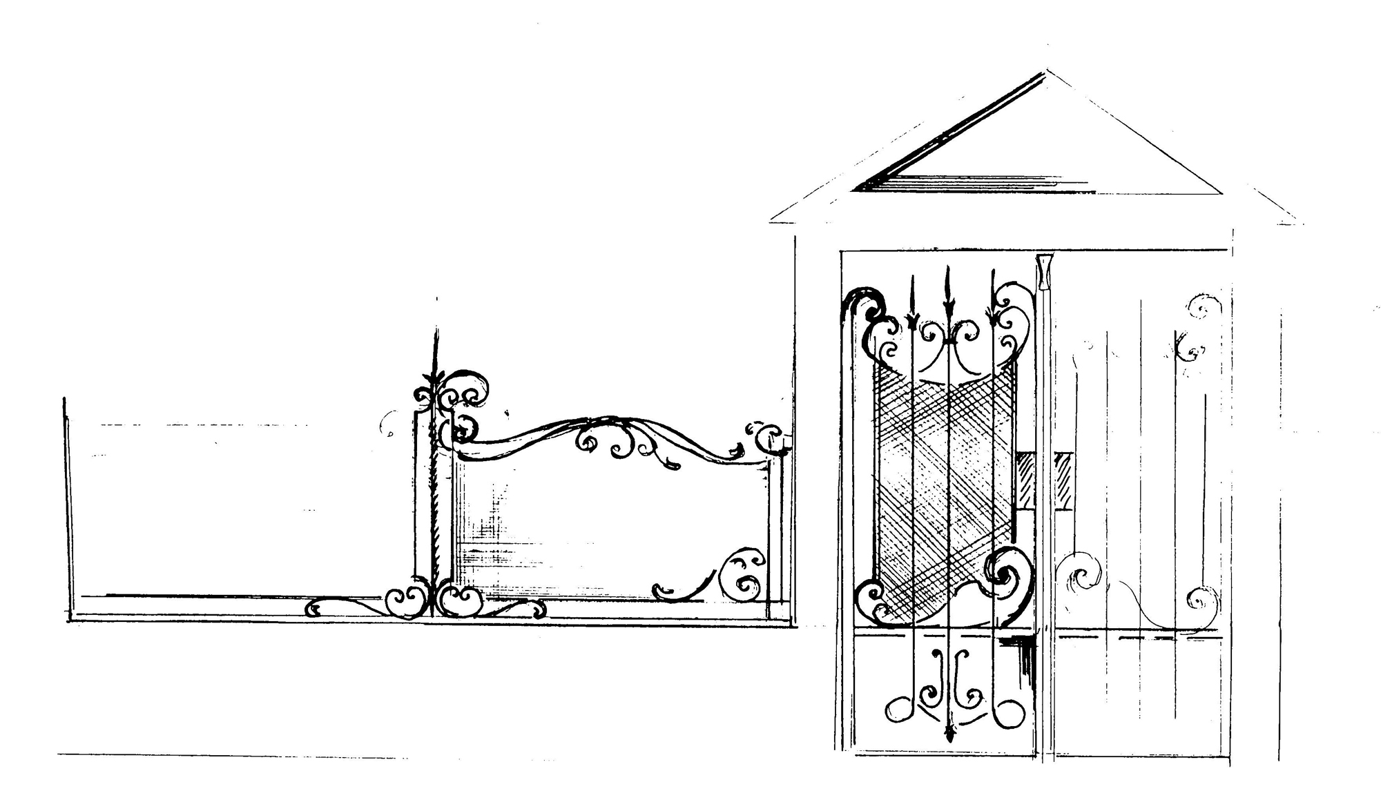 эскизы дверей: